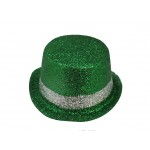 Mardi Gras Top Hat Green and Silver