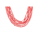 """36"""" 8mm Red Heart Beads"""