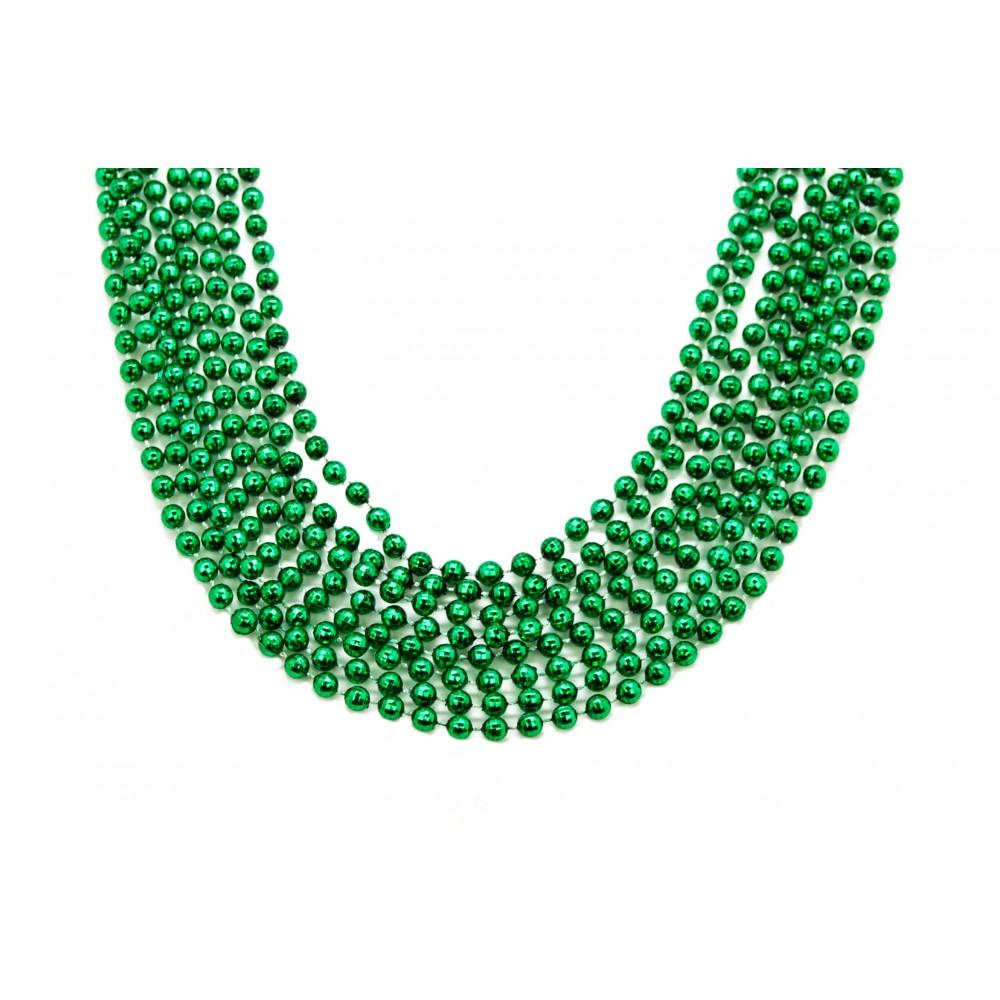 "33"" 7mm Global Beads Green"