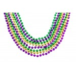 33 Inch 7mm Global Beads Purple, Green, and Gold