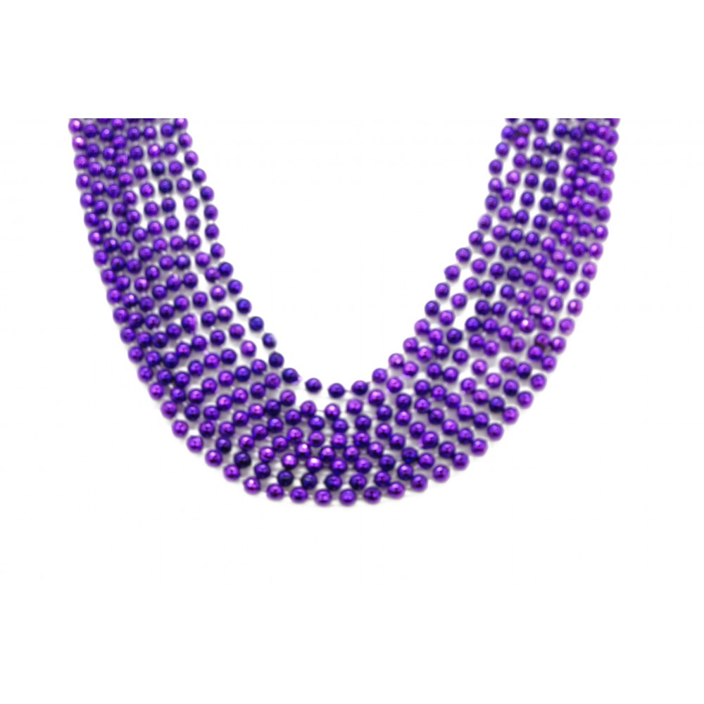 "33"" 7mm Global Beads Purple"