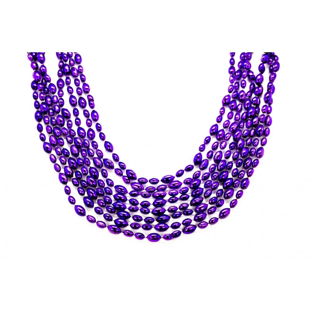 "33"" Purple Football Beads"