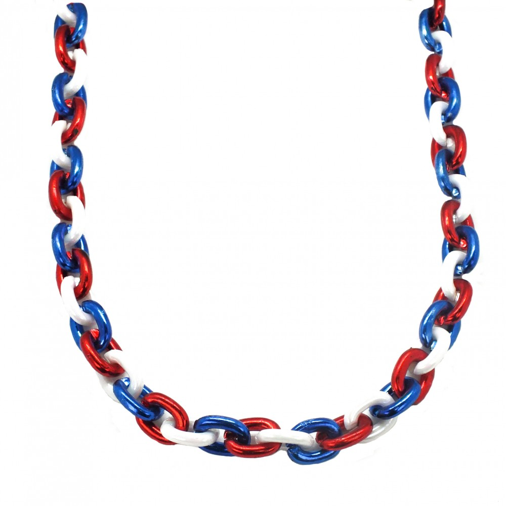 """40"""" Red, White, and Blue Chain Bead"""