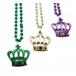 """33"""" Crown Bead Purple, Green and Gold"""