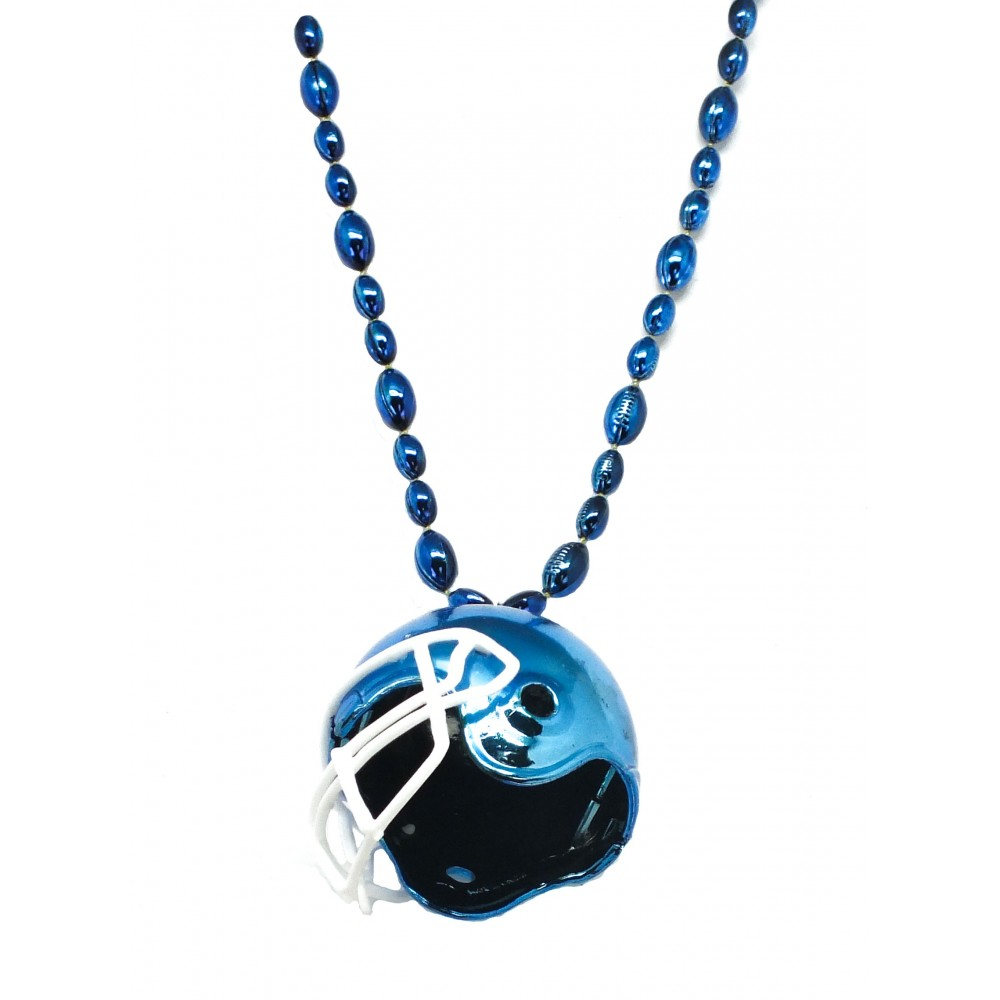 """33"""" Blue Football Helmet Bead"""