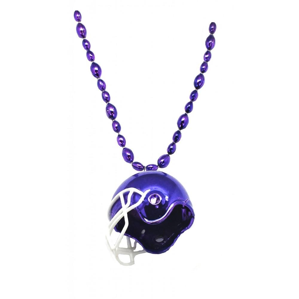 """33"""" Purple Football Helmet Bead"""