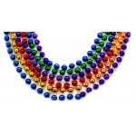 """48"""" 10mm Round Beads Sectional Rainbow Colors"""
