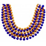 "40"" 12mm Round Beads Orange and Blue"