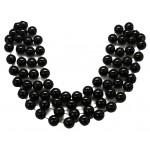 """48"""" 18mm Round Beads Black"""