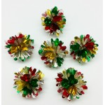 Snowflake Ball Red, Green, Gold, and Silver