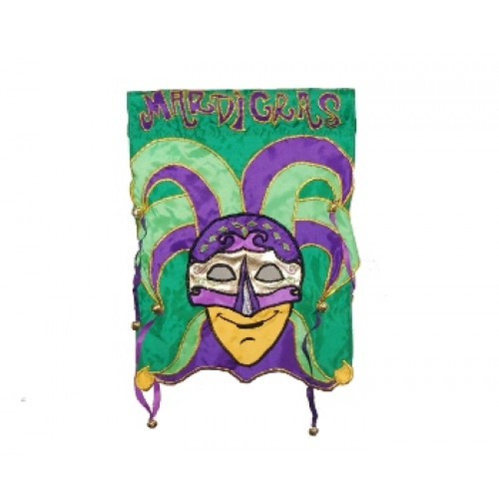 """28"""" x 44"""" Jester Flag with Bells"""