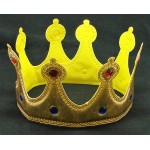 Soft Gold Jeweled Crown Adult Size