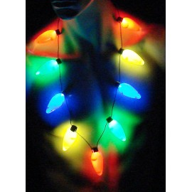 """34"""" Christmas Lights Necklace"""