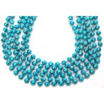"33"" 7mm Global Beads Light Blue"