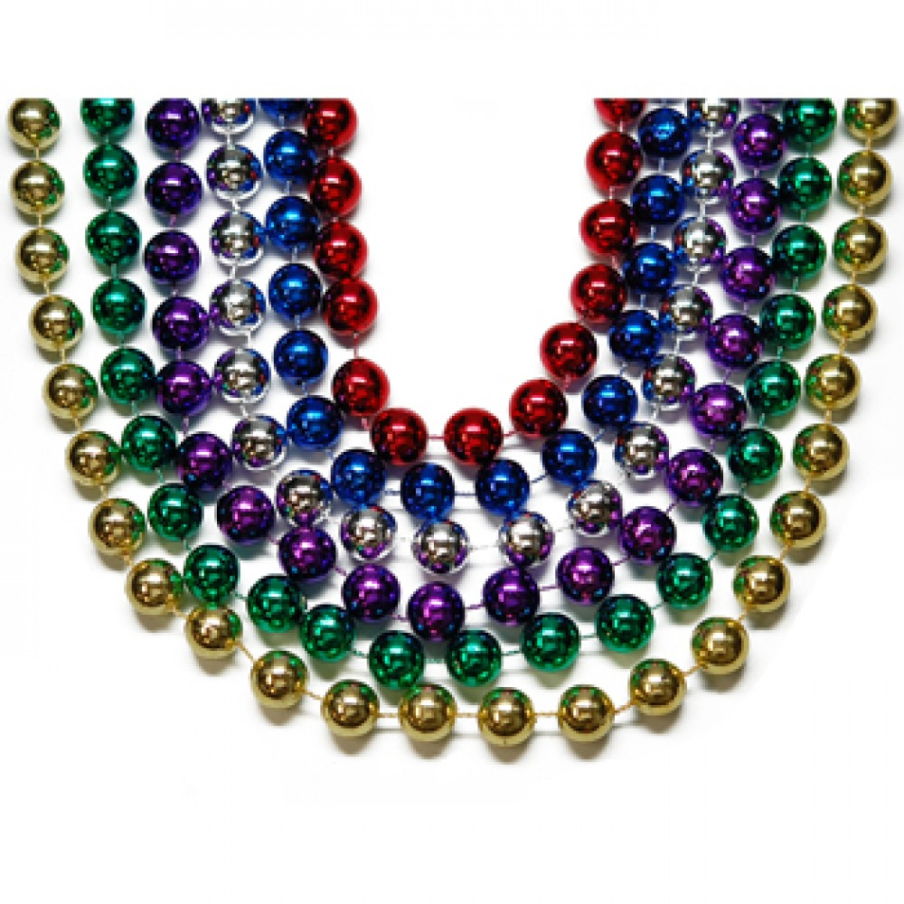 """48"""" 18mm Round Beads Assorted Colors"""