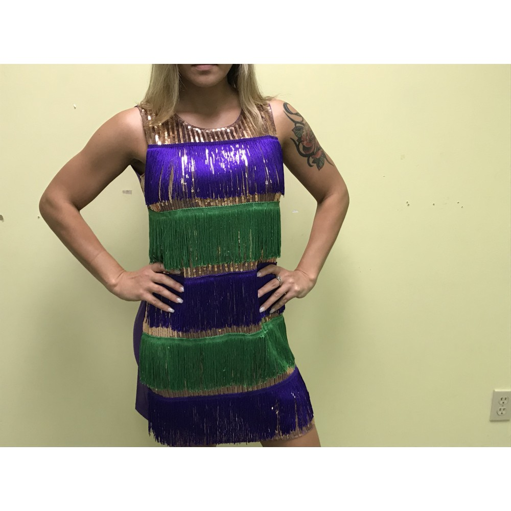 MARDI GRAS FLAPPER DRESS