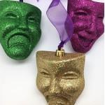 Comedy/Tragedy Mardi Gras Faces 3 Piece Set