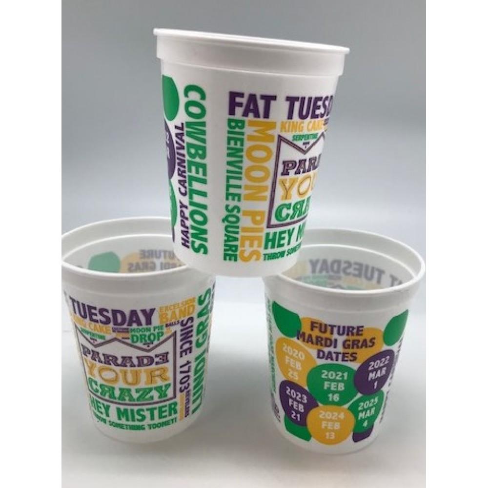 16oz Future Date Mardi Gras Cups
