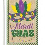 Mardi Gras Burlap House Flag