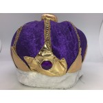 Purple Velvet King Hat