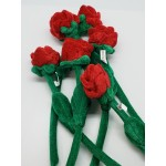 "12"" Red Rose Plush 6"