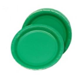 "20ct 9"" Green Plates"