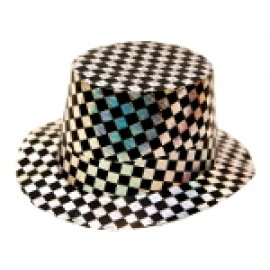 Black and Silver Laser Paper Hat