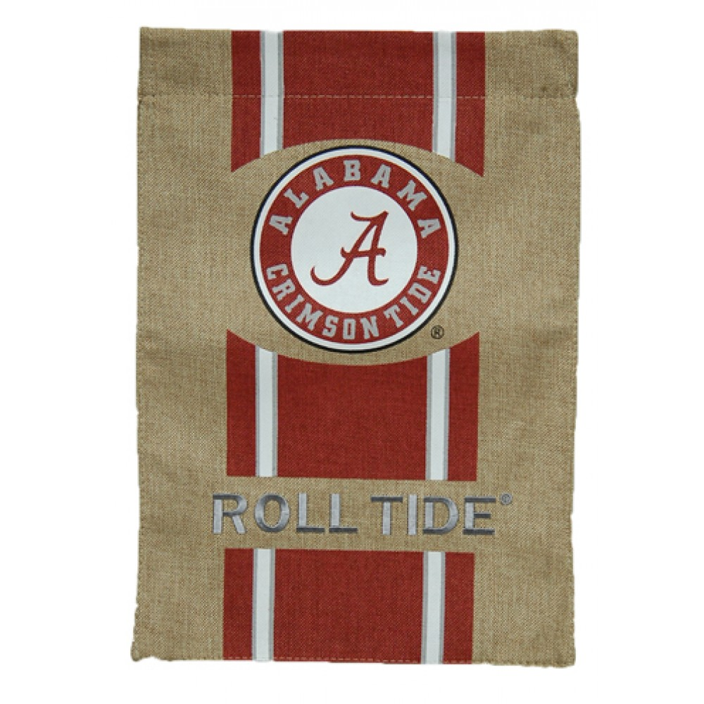 "44"" Alabama Burlap Flag"