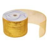 """4"""" x 25 Yard Gold Metallic Mesh Ribbon"""