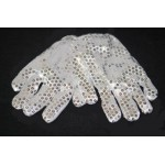 Light Up Silver Sequin Gloves / 1 Pair
