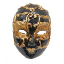Black and Gold Mask Pin