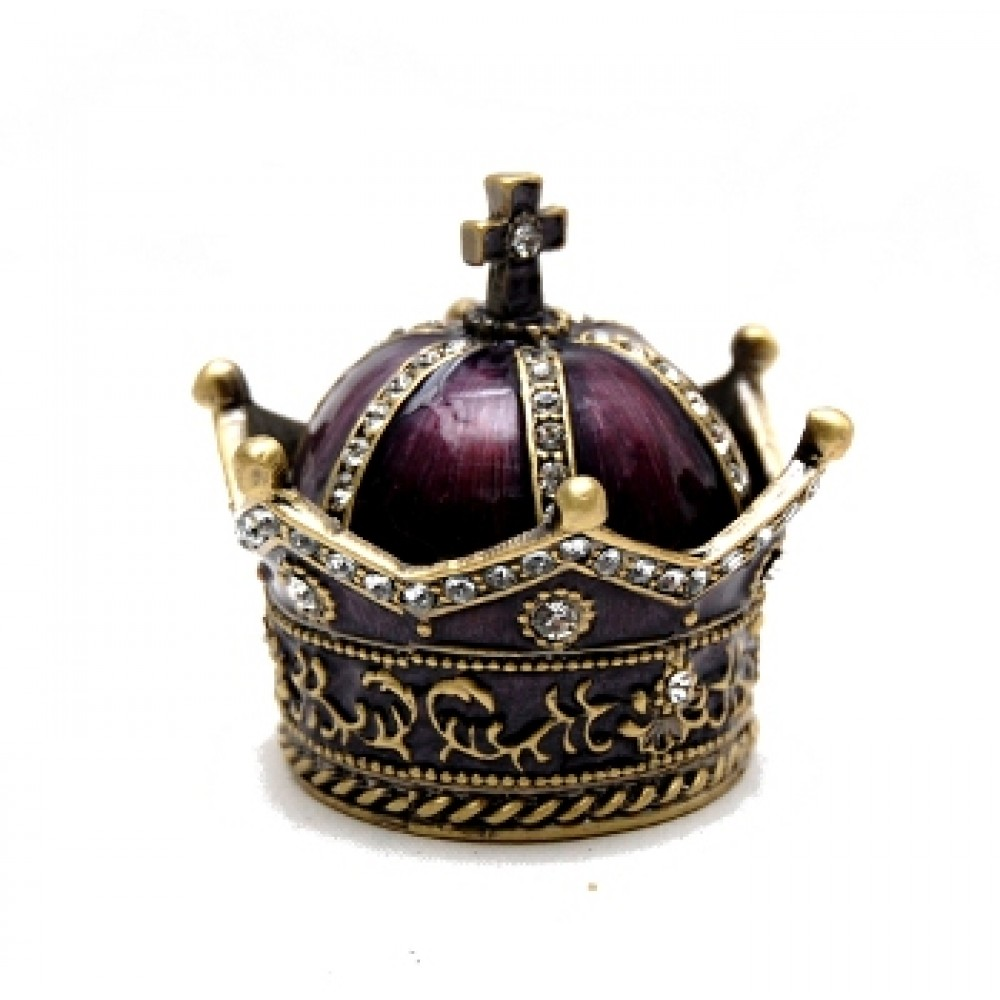 "1.5""x2.5"" Purple and Gold Crown Box"