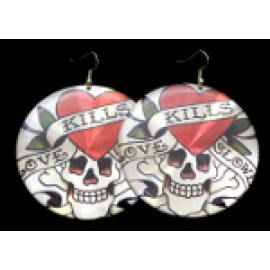 65mm Disc Pirate Earrings
