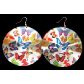65mm Disc Butterfly Earrings