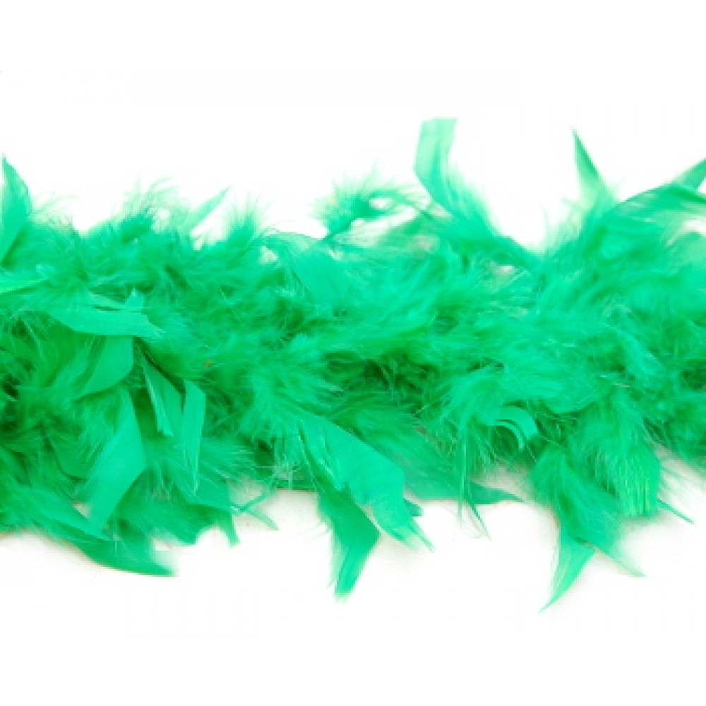 6' Green Feather Boa