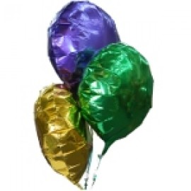 "18"" Purple, Green & Gold Foil Balloons Great for Mardi Gras party decorations"