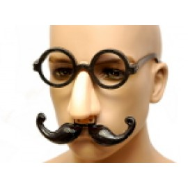 Glasses with Plastic Nose and Mustache