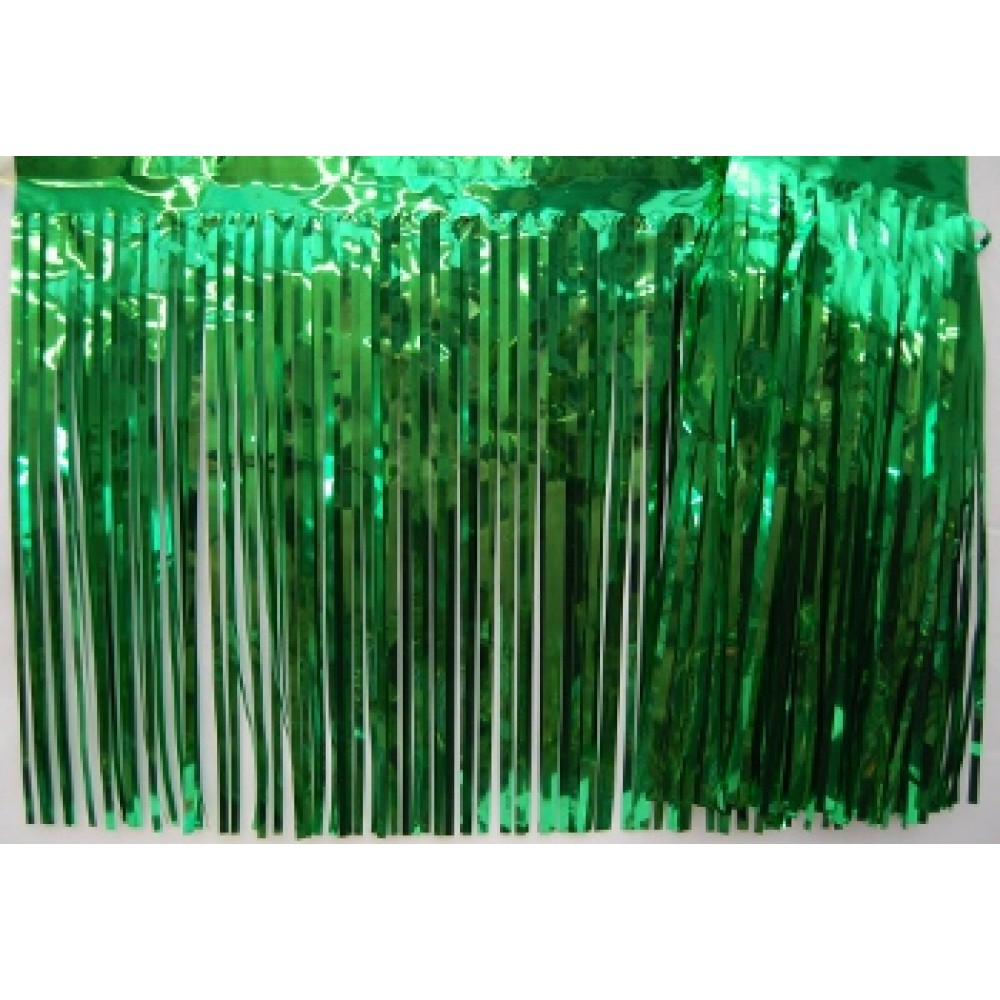 "15"" x 10' Green Fringe"
