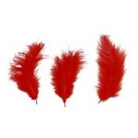 """3"""" to 5"""" Feathers Red Approximately 24 pieces"""