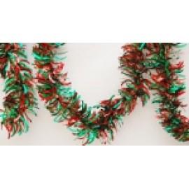 """4"""" x 15' Green and Red Garland"""