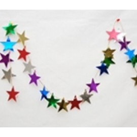 9' Assorted Color Star Chain