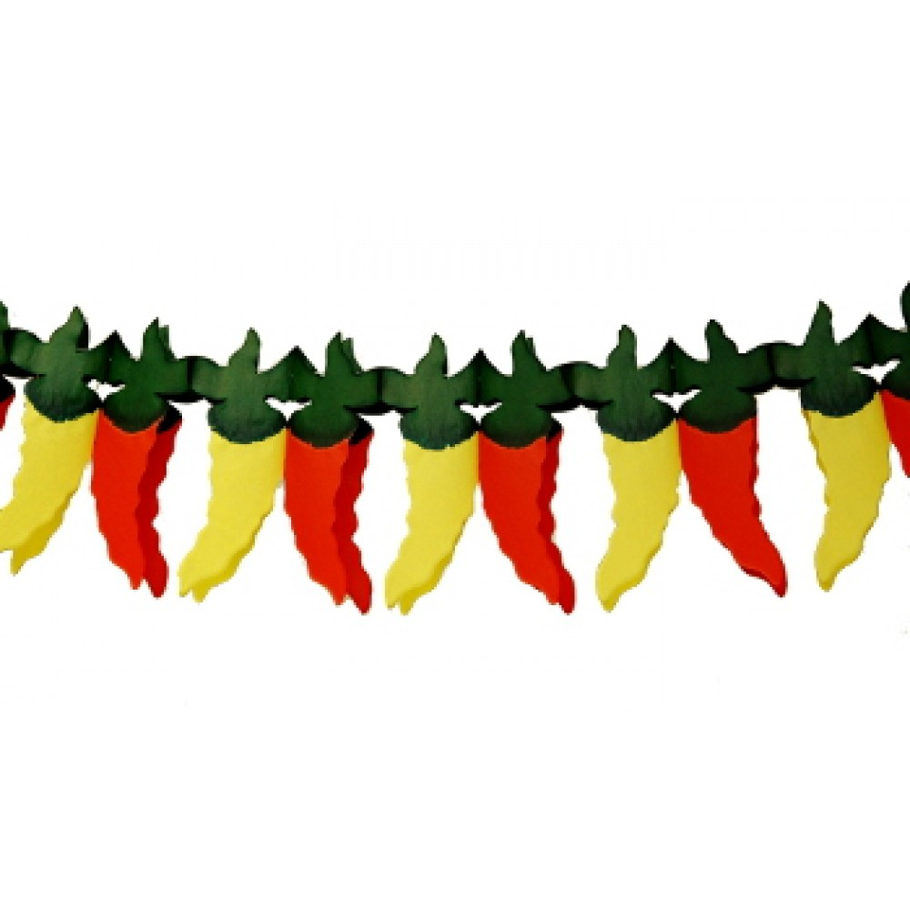 10' Red and Yellow Chili Pepper Garland