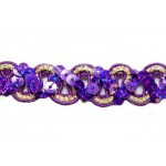 16mm Purple and Gold Sequin Trim, 15 yards