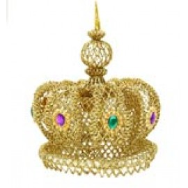 "10"" Gold Glitter Crown"
