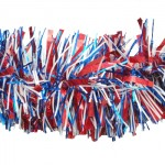 """5"""" X 9' Patriotic Tinsel Garland Red, White, and Blue"""