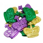 "2"" Purple, Green, and Gold Crown Coins"