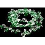 9' Green and White Shamrock Garland