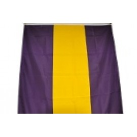 3' X 10' Nylon Flag  Banner Purple & Gold