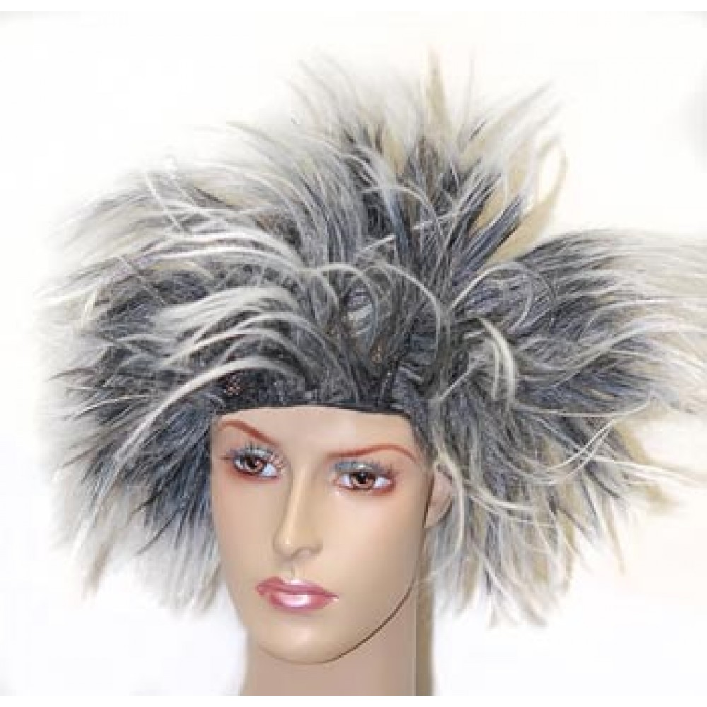 Black and White Spiked Wig