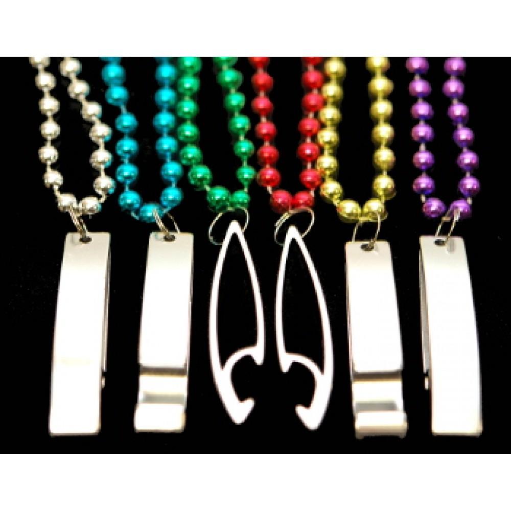 """33"""" Bottle Opener Bead Assorted Colors"""